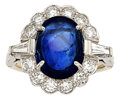Estate Jewelry:Rings, Sapphire, Diamond, Platinum, White Gold Ring, Cartier. ...