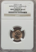 Errors, 2004-D 10C Roosevelt Dime -- Improperly Annealed Planchet -- MS65 NGC....