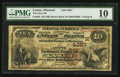 National Bank Notes:Missouri, Lamar, MO - $10 1882 Brown Back Fr. 484 The First NB Ch. # (M)4057....