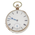 Timepieces:Pocket (pre 1900) , Waltham Wm. Ellery Early Key Wind. ...