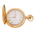 Timepieces:Pocket (pre 1900) , Elgin Fancy Dial 6 Size. ...