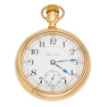 Timepieces:Pocket (post 1900), Hamilton 14k Solid Gold 18 Size 23 Jewel Grade 946. ...