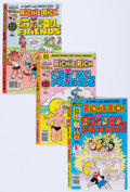 Modern Age (1980-Present):Humor, Richie Rich and Gloria/Richie RIch and His Girlfriends File CopyShort Box Group (Harvey, 1977-82) Condition: Average NM-....