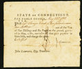 Colonial Notes:Connecticut, Connecticut Pay Table Office £5 17s May 22, 1782 Very Fine.. ...