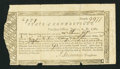 Colonial Notes:Connecticut, Connecticut Treasury Certificate £9.7s.9d June 1, 1782 AndersonCT-19 Very Fine.. ...