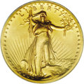 High Relief Double Eagles: , 1907 $20 High Relief, Wire Rim MS63 PCGS. Often called America's most beautiful coin, this piece is a masterwork of the eng...