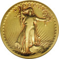 High Relief Double Eagles: , 1907 $20 High Relief, Flat Rim Fine 15 NGC. This is an attractive, smooth example of the famous and ever-popular Saint-Gaud...