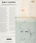 Miscellaneous:Broadside, [John Updike]. Group of Three SIGNED Broadsides/Posters. Variouspublishers, 1985 - 1994. . ...