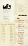 Miscellaneous:Broadside, [John Updike]. Group of Four SIGNED Broadsides. Various publishers,1975 - 1997. . ...