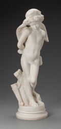 Sculpture, After Denise Delavigne (French, 19th Century). Les liens de l'amour. Marble. 30 inches (76.2 cm) high. Inscribed on base... (Total: 2 Items)