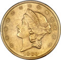 Liberty Double Eagles, 1860 $20 MS61 PCGS. CAC....