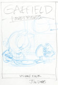 Original Comic Art:Miscellaneous, Jim Davis Garfield and Friends Volume Four DVD CasePreliminary Original Art (Fox, 2005)....