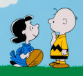 "Animation Art:Seriograph, Peanuts ""It's an Honor, Charlie Brown"" Lucy and Charlie BrownSericel (Bill Melendez, c. 1990s)...."