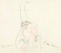 Animation Art:Production Drawing, The Sword In The Stone Merlin and Wart Animation Drawing(Walt Disney, 1963)....