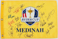 Golf Collectibles:Autographs, 2012 Ryder Cup Multi Signed Flag....
