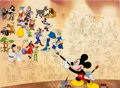 Animation Art:Seriograph, Mickey's Mural of Memories Mickey Mouse Limited EditionSericel (Walt Disney, 1998)....