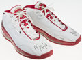 Basketball Collectibles:Others, Maurice Taylor Game Worn, Signed Houston Rockets Shoes....