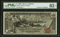 Large Size:Silver Certificates, Fr. 224 $1 1896 Courtesy Autographed Silver Certificate PMG Gem Uncirculated 65 EPQ.. ...