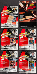 "Movie Posters:James Bond, James Bond - Johnny Lightning Die-Cast Cars (Playing Mantis, 2001). Die-Cast Cars in Original Packaging (7) (6"" X 7"" X 1.5"" ... (Total: 7 Items)"