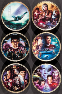 """Star Trek: The Movies Collection (The Hamilton Collection, 1994-1995). Limited Edition Collector Plates (6) (8.25""""..."""