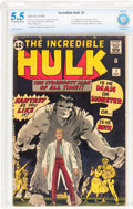 Silver Age (1956-1969):Superhero, The Incredible Hulk #1 (Marvel, 1962) CBCS FN- 5.5 Off-white to white pages....