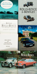 Books:Non-fiction, [Automobiles]. Group of Six Books Related to Rolls-Royce Vehicles. Various publishers and dates.... (Total: 6 Items)