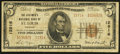 National Bank Notes:Missouri, Saint Louis, MO - $5 1929 Ty. 2 The Boatmen's NB Ch. # 12916. ...