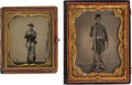 Military & Patriotic:Civil War, Tintypes of Union Soldiers.... (Total: 2 )