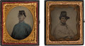 Military & Patriotic:Civil War, Sixth Plate Portraits of Soldiers.... (Total: 2 )