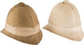 Military & Patriotic:Foreign Wars, 2 Reproduction British Pith Helmets.... (Total: 2 Items)