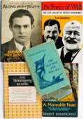 Books:Biography & Memoir, [Ernest Hemingway]. Group of Five Books Related to Hemingway.Various publishers and dates.... (Total: 5 Items)