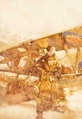 Fine Art - Painting, American:Contemporary   (1950 to present)  , C. Michael Dudash (American, b. 1952). Fighter Pilot. Oil onboard. 24-3/4 x 17-1/4 inches (62.9 x 43.8 cm). Initialed a...