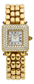 Estate Jewelry:Watches, Chopard Lady's Diamond, Gold Watch. ...