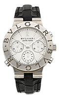 Estate Jewelry:Watches, Bvlgari Gentleman's Platinum, White Gold, Rattrapante DiagonoAutomatic Chronograph Watch . ...
