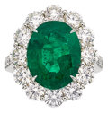 Estate Jewelry:Rings, Emerald, Diamond, Platinum Ring, Piranesi. ...