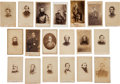 Military & Patriotic:Civil War, Leather Photo Album Filled With Soldiers and Commanders....