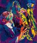 Fine Art - Work on Paper:Print, LeRoy Neiman (American, 1921-2012). Sax Man, 1974. Silkscreen in colors on paper. 31-1/2 x 27-3/4 inches (80.0 x 70.5 cm...
