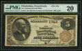 National Bank Notes:Pennsylvania, Philadelphia, PA - $5 1882 Brown Back Fr. 471 The National SecurityBank Ch. # 1743. ...