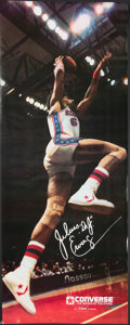Basketball Collectibles:Photos, 1979 Julius Dr. J Erving Original Converse Poster - Near LifeSized. ...