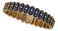 Estate Jewelry:Bracelets, Diamond, Multi-Stone, Enamel, Gold Bracelet. ...