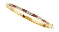 Estate Jewelry:Boxes, Ruby, Diamond, Gold Bracelet. ...