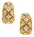 Estate Jewelry:Earrings, Diamond, Platinum, Gold Earrings, David Webb. ...