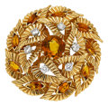 Estate Jewelry:Brooches - Pins, Citrine, Diamond, Gold Brooch, Boucheron. ...