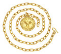 Estate Jewelry:Necklaces, Gold Pendant-Necklace, Jean Mahie. ...