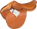 "Luxury Accessories:Bags, Hermes Natural Peau Porc Leather Steinkraus Dressage Saddle.Very Good to Excellent Condition. 16"" Width x 19"" Height..."