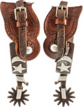 Western Expansion:Cowboy, Single-Mounted C.P. Shipley Spurs....