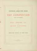 Books:Periodicals, [Edward the Seventh]. The Illustrated London News Record of theCoronation Service and Ceremony. King Edward the VII and...