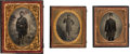 Military & Patriotic:Civil War, Cased Images of Union Soldiers Bearing Arms. ... (Total: 3 )