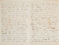 Military & Patriotic:Civil War, Battle of Cold Harbor Letter with Reference to Battle of the Crater....