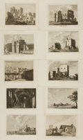 Books:Prints & Leaves, [Architecture]. Group of Sixty-One Engraved Plates DepictingVarious British Architectural Landmarks. Various publishers, ci...